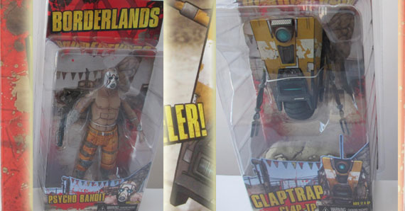 borderlands action figures clap trap and psycho coming out in may