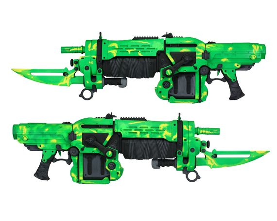 Gears of War 3 Electric Green Lancer