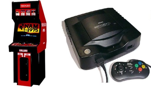 The Neo Geo MVS and the Neo Geo CD.