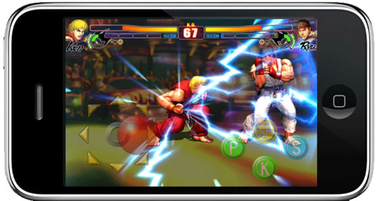 street fighter on smartphone