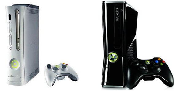 The Xbox 360 as it was when we first saw it and how it is now.