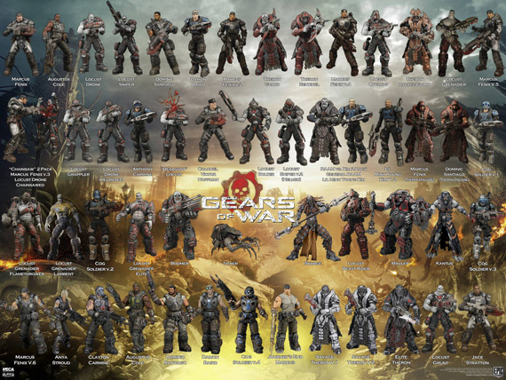 gears of war neca poster