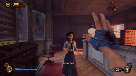 Throughout BioShock Infinite, Elizabeth tosses you money... just because she's a nice person.