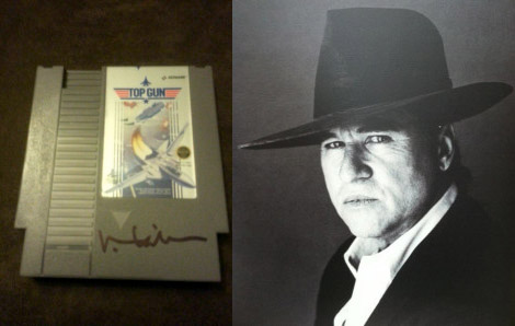 Val Kilmer attended C2E2 2012 and signed my copy of Top Gun for the NES.