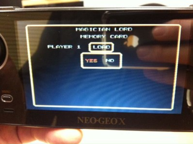 Tommo Inc. teased us with this photo of the new game save screen, posted on the Neo Geo X Facebook page.