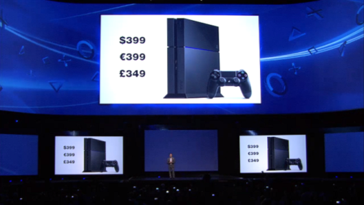Sony was on a roll, and this graphic riled the crowd up into the last frenzy of the presentation.
