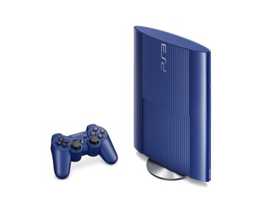The slim PS3 also comes in red, which was included in a God of War bundle.