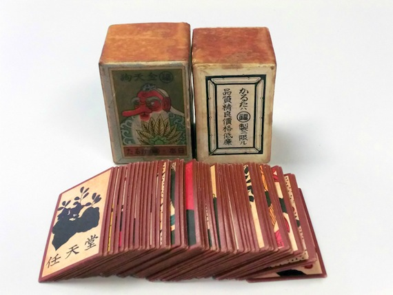 Vintage Nintendo hanafuda playing cards.