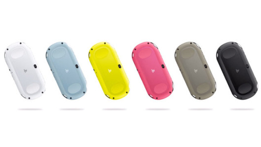 Check out all the different colored iPods, I mean, PS Vitas.