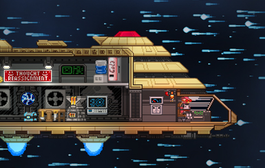 Your decoratable starship. Mine has a soda machine.